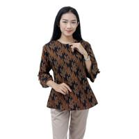 Batik Wanita Blouse Batik Wanita Atasan Jumbo S-M-L-XL-XXL-3L-4L-5L