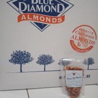 Roasted Almond Premium Panggang Blue diamond 100gr