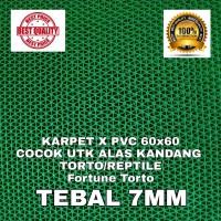 KARPET X PVC 60x60 HIJAU TORTO REPTIL ALAS KANDANG SULCATA BEARDED