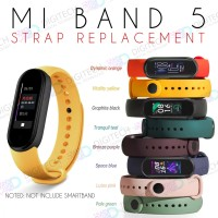 MI BAND 5 Strap Replacement Single Colour Miband Strap Smartband