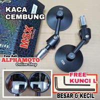 Spion jalu engsel tekuk adjustable cafe racer bar end cembung