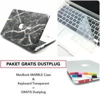 PAKET GRATIS DUSTPLUG MacBook MARBLE Case dan Keyboard Bundling