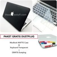 PAKET GRATIS DUSTPLUG MacBook MATTE Case Bundling Package