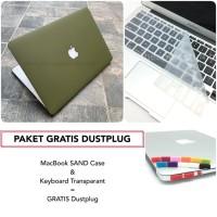 PAKET GRATIS DUSTPLUG MacBook SAND Case dan Keyboard Bundling