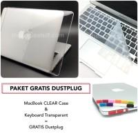 PAKET GRATIS DUSTPLUG MacBook CLEAR Case Bundling Package