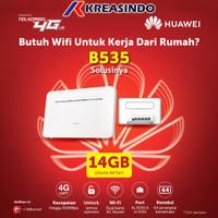 Huawei B535 Home Router Wifi 4G LTE Cat 7 Unlock Free Telkomsel 14Gb