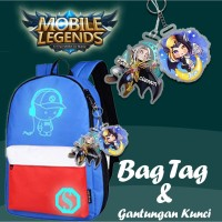 GANTUNGAN KUNCI CUSTOM #22 MOBILE LEGENDS, PUBG, PJ MASKS