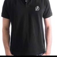 tshirt Baju kaos Kerah Avengers Bordir Logo Big Size 3XL & 4XL