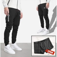 CELANA JOGER PANJANG / TRAINING / SWEATPANTS PUMA BIG SIZE S,M,L,XL,2X - Hitam, M