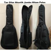 Softcase Gitar Akustik Hitam Polos Jumbo