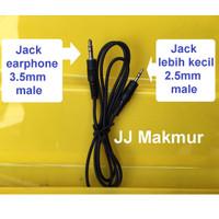Aux Cable Connector 1m - Kabel Aux Audio 1k1 Jack 3.5mm ke 2.5mm 1ke1
