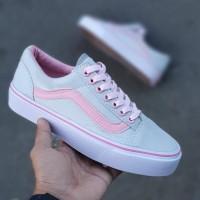 Sepatu Wanita Vans Oldskoll Grey Pink Import