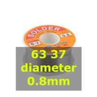 Kawat Timah Solder 63 37 0.8mm Sn63 Pb37