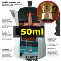 50ml Moka Pot 1 Cup Espresso Coffee Maker Alat Seduh Buat Kopi