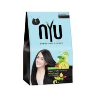 Nyu Creme Pewarna Rambut Hair Colour Natural Black No.2 Warna Hitam