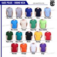 Baju Kaos Polos Oblong Pria Wanita Grosir Bukan Gildan / Combed 30s