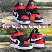 Sepatu anak basket NIKE AIR JORDAN 1 KIDS ICON RED , BEST SELLER!!!!