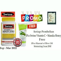Paket Promo Swisse Vitamin C manuka Honey + Harem's Olive Oil Cream