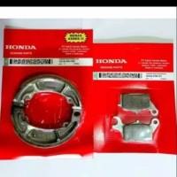 Paket Kampas Rem Depan Belakang Motor Honda Beat / Vario