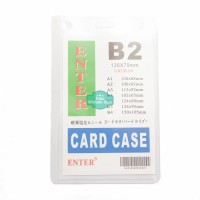 Plastik ID Card Case Enter B2 Name Card Name Tag Portrait 1 Buah