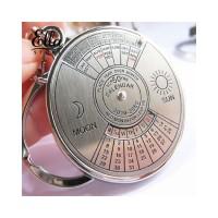 kc Gantungan Kunci Silver dengan Kalender Perpetual 50 Tahun
