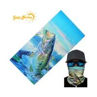 Bandana Syal Masker Half Face Gambar Ikan untuk Motor Outdoor JK