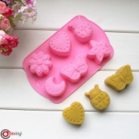 dexinyi Silicone cake mold chocolate moulds jelly pudding molds 6 hol