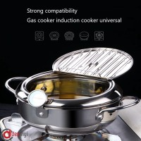 dexinyi Temperature control fryer mini stainless steel frypot inducti