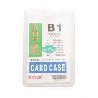Plastik ID Card Case Enter B1 Name Card Name Tag Portrait 1 Buah