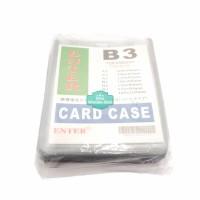 Plastik ID Card Case Enter B3 Name Card Name Tag Portrait 20 Buah