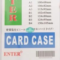 Plastik ID Card Case Enter B4 Name Card Name Tag Portrait 1 Buah