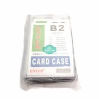 Plastik ID Card Case Enter B2 Name Card Name Tag Portrait 20 Buah