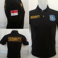 New Kaos Polo Satpam - Kaos Polo Security - Kaos Kerah Security - M