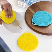Spon Cuci Piring Silikon Dish Sponge Silicone Cleaning Wash Brush Pan