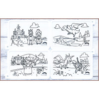 Colour Me Puzzle Mats - The Princess and the Dragon