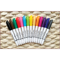 Colour Me Mats - 14pc Fine Tip Whiteboard Markers