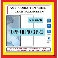 OPPO RENO 3 PRO 6.4 INCH ANTI TEMPERED GLASS KACA FULL BLACK 910605