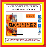 XIAOMI MI MIX 2 6 INCH ANTI TG TEMPERED GLASS KACA FULL BLACK 910616