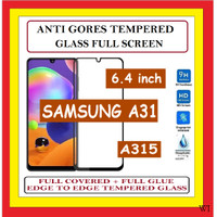 SAMSUNG A31 6.4 INCH ANTI GORES TEMPERED GLASS KACA FULL BLACK 910607