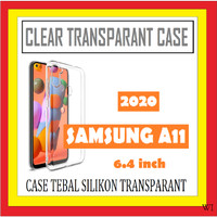 SAMSUNG A11 6.4 INCH ANTI CRACK CASE TEBAL TPU CLEAR TRANSPARAN 910578