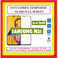 SAMSUNG M21 6.4 INCH ANTI GORES TEMPERED GLASS KACA FULL BLACK 910613