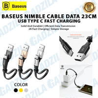 BASEUS Nimble Kabel Data Pendek USB Type C Fast Charging 23cm Type-C