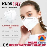 MASKER MULUT KN95 ANTI VIRUS FILTRATION RATE 95 SELF PRIMING FILTER