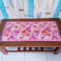 Taplak meja tamu 40x90 cm - shaby pink