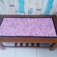 Taplak meja tamu motif monalisa pink 40x90 cm