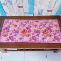 Taplak meja tamu motif shaby pink 40x90 cm