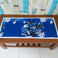 Taplak meja tamu 40x90 cm - manohara biru