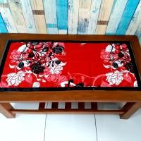 Taplak meja tamu motif manohara merah 40x90 cm
