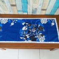 Taplak meja tamu motif manohara biru 40x90 cm