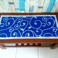 Taplak meja tamu motif diandra biru 40x90 cm